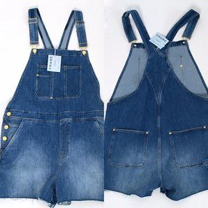 FRAME denim overall shorts L